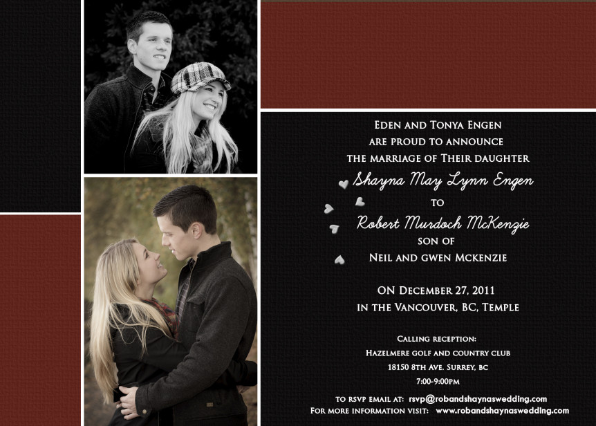 McKenzie Wedding Invitation