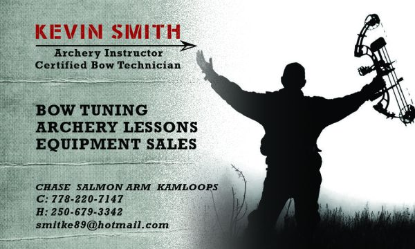 Kevin Smith Archery Business Card Front